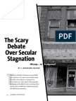 The Scary Debate Over Secular Stagnation