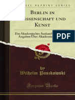 Berlin in Wissenschaft Und Kunst 1100006821