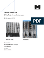 Lacrosse Building Docklands Fire Report - City of Melbourne Municipal Building Surveyor