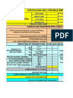 Income Tax Calculation Sheet With Form 16