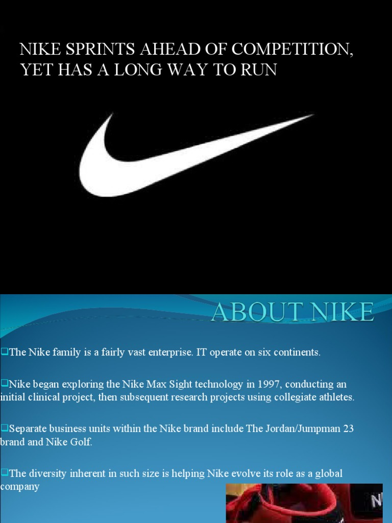 nike sprints ahead of the competition essay