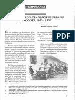 Sociedad y transpoorte Urbano en Bogotá 1865 - 1950.pdf