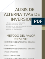 Analisis de Alternativas de Inversion
