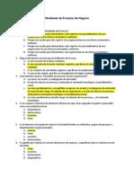 Cuestionario Modelado de Procesos de Negocio