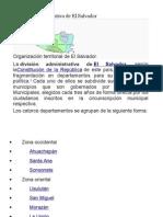 División Administrativa de El Salvador