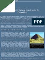 ¿Quién Fue El Primer Constructor de Pirámides? - MUNDO PARANORMAL