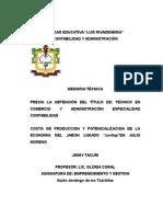 Plan de Negocios ( Emprendimiento)