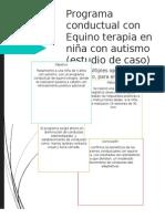 Programa Conductual Con Equino Terapia en Niña Con Autismo