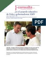 19-10-2015 E-consulta - Es Histórico El Acuerdo Educativo de Peña y Gobernadores, RMV