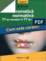 G.gruita-Gramatica Normativa-Cum Este Corect