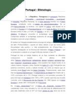 Etimologia - Portugal