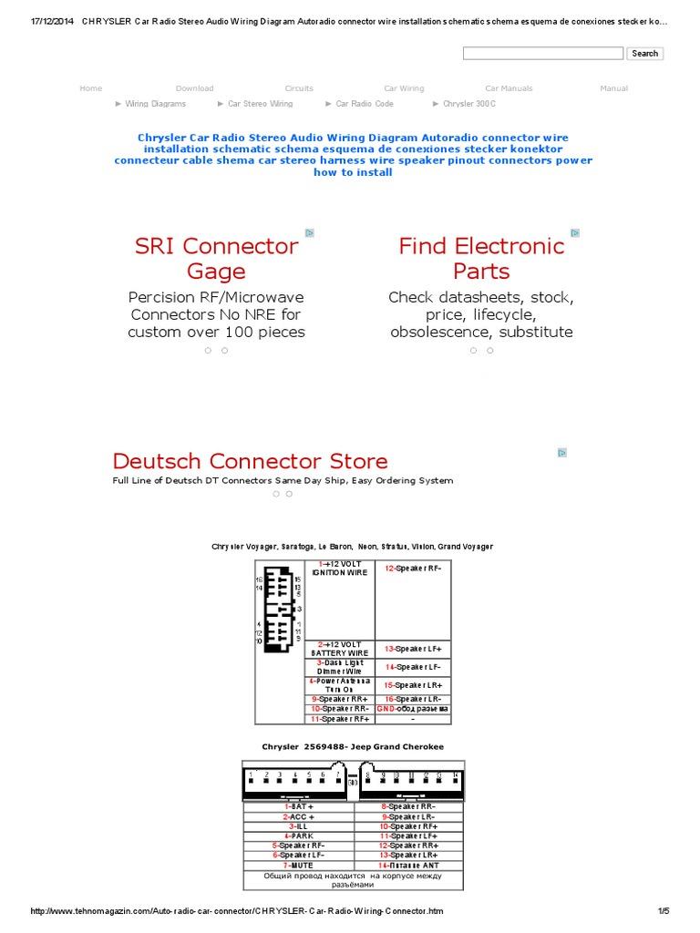 Chrysler car radio stereo audio wiring diagram autoradio connector chrysler car radio stereo audio wiring diagram autoradio connector wire installation schematic schema esquema de conexiones stecker konektor connecteur sciox Gallery