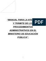 Manual Para La Atención y Trámite de Los Procedimientos Administrativos en El Mep