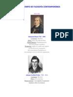 Linea Del Tiempo de Filosofía Contemporánea 10-Oct-2015