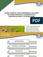 CAMBIO CLIMÁTICO Y AGUA SUBTERRÁNEA