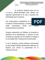 08 06 2011 - Firma de Convenio  para otorgar Fianzas Sociales a personas de bajos recursos entre Gobierno y Fundación Telmex