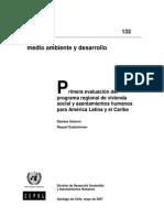 Libro Primera Evaluación Del Programa Regional de Vivienda Social