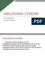 Aneurisma Cerebri PPT