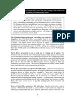 Tesoro presenta plan para reestructurar la deuda de Puerto Rico