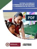 Sistema Colombiano Formacion de Educadores