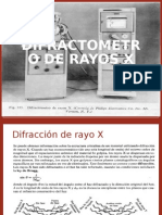Difractometro de Rayos x