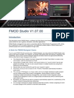 FMOD Studio User Manual | Computer File | System Software