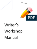 Writer's Workshop Manual