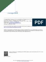 A Longitudinal Analysis of the Antecedents of Organizational