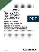 Manual calculadora fx-991W CASIO