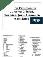 Plan de Estudios de Guitarra