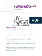 Modalidades de Contratación en El Sector Privado