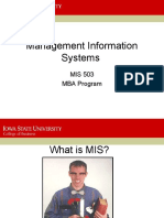 MIS 503Intro - Fall 2006 - Lecture