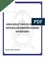 Cover Jadwal Sholat Tahun 2015 m
