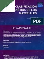 Clasificacion Magnetica de los Materiales