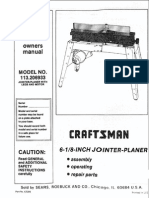 Craftsman Jointer Manual