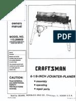 Craftsman Jointer Manual