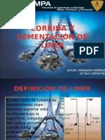 CORRIDA Y CEMENTACI+ôN DE LINER