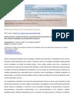 Simposio Desde Las Fuentes - XIX Congreso Nacional Arqueologia Argentina - 2016 Tucuman