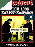 Ocho x Ocho. Match Kasparov - Karpov (II)