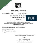 Perwali Bogor 39 Th 2014 Dewas