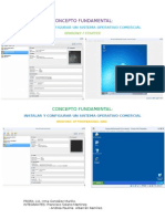 Instalar y configurar un sistema operativo comercial.