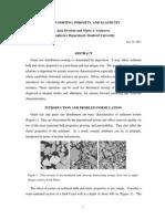 Grain Sorting, Porosity, And Elasticity