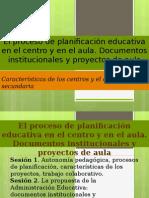 La Planificación Educativa (Bloque 2)