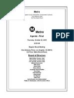 Metro Board of Directors October agenda