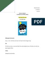 literary analysis contemporary realistic books