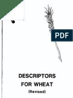 303 Descriptors for Wheat Revised