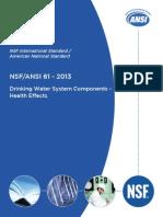 NSF/ANSI 61-2013