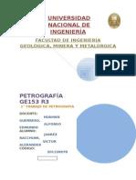 1° TRABAJO DE PETROGRAFÍA MINERALES Y MAGMATISMO, Victor Juarez