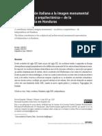La Contribucion Italiana a La Imagen Monumental -Escultorica y Arquitectonia- De La Independencia en Honduras (1)