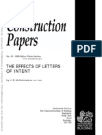 The Effects of Letters of Intent